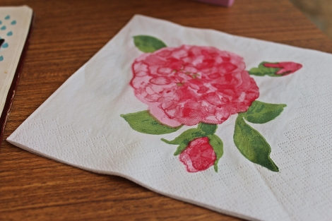 Check out their intricately-designed floral napkins! So pretty!
